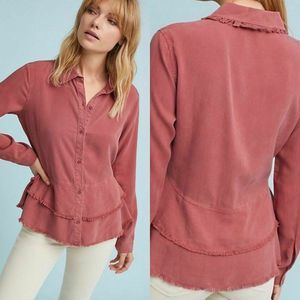 Anthropologie Cloth & Stone Top Small Tiered Red